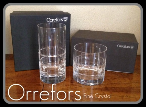 Orrefors Crystal Bar Glasses