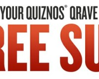Free sub sandwich from Quiznos