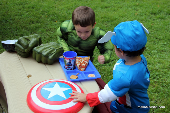 Avengers sharing food