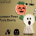 Paper Plate Ghost Halloween Craft For Preschoolers