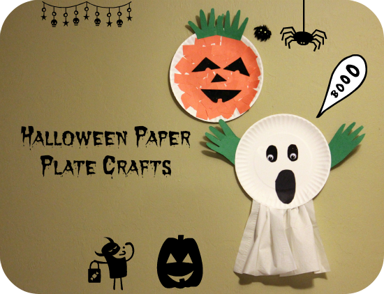 paper plate ghost halloween craft for preschoolers makobi scribe - Preschool Crafts For Halloween