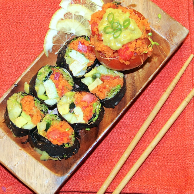 stuffed carrot sushi
