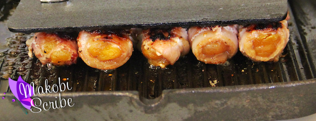 Apricot wrapped bacon (1)