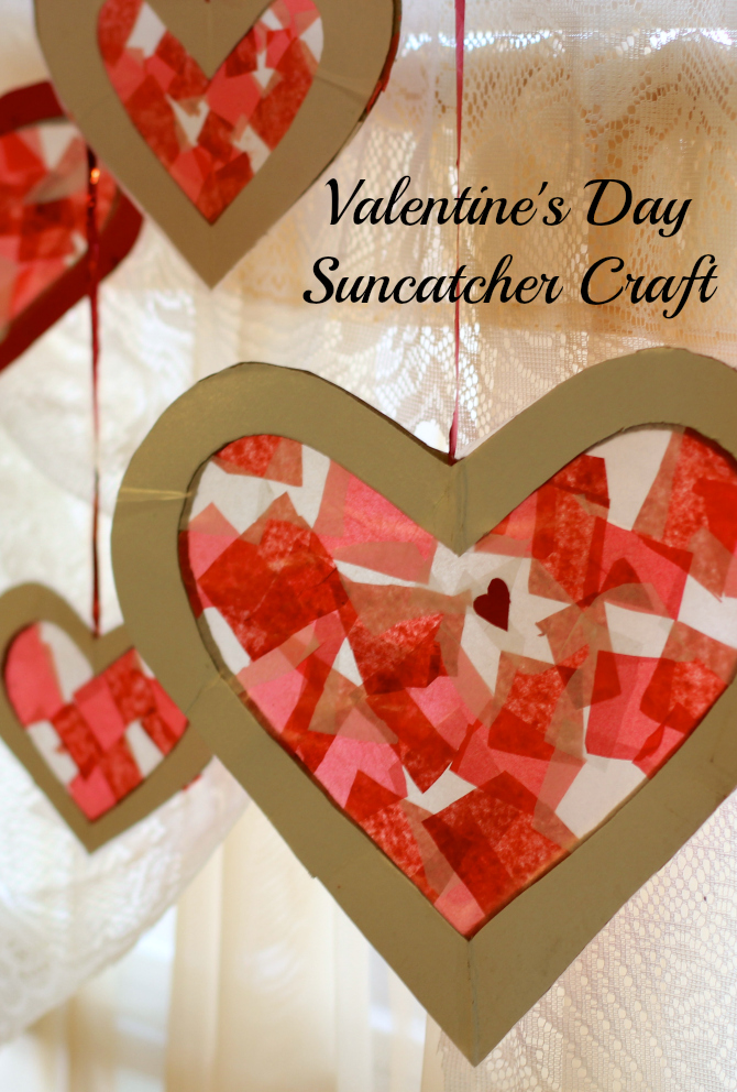 Exceptional Valentine Kid Craft Ideas Part - 5: Easy Valentineu0027s Day Craft For Kids - Tissue Paper Heart Suncatcher ?  Makobi Scribe