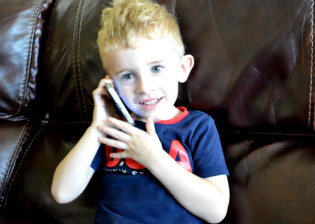 Aidan on the smartphone