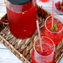 Raspberry Peppermint Sweet Iced Tea Recipe