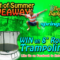 Springfree Trampoline Start Of Summer Giveaway